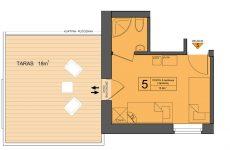 Pokój Nr5 w Zarembówce – pokoje w Jastarni