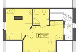 Pokój nr 7 w Zarembówce – studio dla całęj rodziny w Jastarni